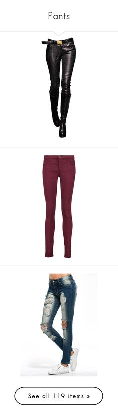 """""""Pants"""" by thesassystewart on Polyvore featuring legs, pants, doll parts, dolls, doll legs, jeans, burgundy, purple skinny jeans, skinny leg jeans and destroyed skinny jeans"""