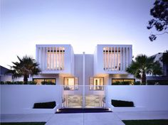 modern contemporary residential architecture: white brighton townhouses by Martin Friedrich architects