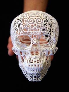 Skull Sculpture Crania Anatomica Filigre (medium). $195.00, via Etsy.