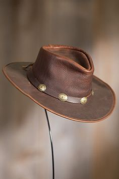 c2ea9b63c00 Fashion and class both in leather hats Leather Cowboy Hats