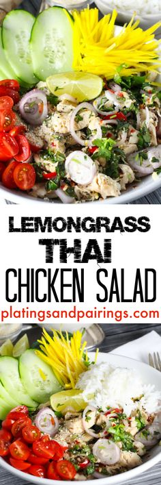 A light, perky salad with such great Thai flavors!