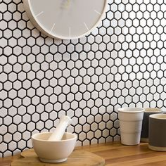 matt hexagon mosaic tile