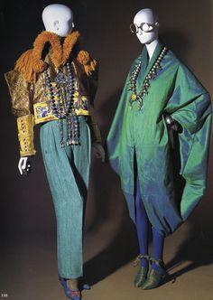 Fashion of legendary style icon Iris Apfel.