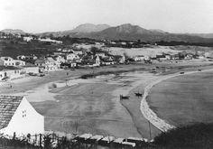 Playa de Panxón desde el castro con las dunas al fondo