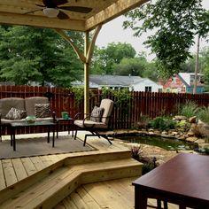 My beautiful back yard deck and pergola- Tucker Contracting www.tuckercontracting.com