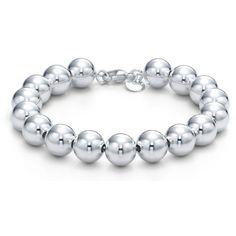 Bead Bracelet ($200) ❤ liked on Polyvore featuring jewelry, bracelets, accessories, jewels, bracciali, sterling silver bracelet bangle, bracelet bangle, tiffany & co jewelry, tiffany & co jewellery and tiffany & co bracelet