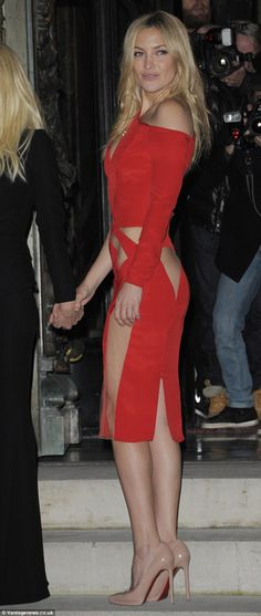 Smouldering: Thanks to her active workout regime, Kate fortunately has the figure to pull off such a revealing dress