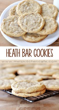 These thin, buttery, and chewy Heath Bar Cookies are delicious.
