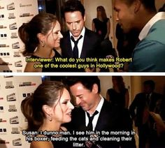As awesome as RDJ is. His wife is just as cool