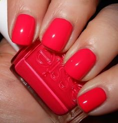 Super short nails and lots of weekend BBQs call for a notice me color: perhaps the name as much as the nearly neon coral nail polish got me to choose Essie's Come Here! this week.
