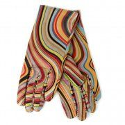 Paul Smith Accessories Womens Leather Swirl Gloves