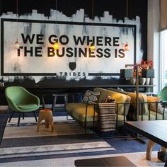 Office Tour: Tribes – Eindhoven Coworking Office – Home Office Design Layout Cool Office Space, Office Space Design, Modern Office Design, Office Designs, Creative Office Decor, Office Ideas, Small Office, Coworking Space, Lounge Design