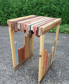 Made From Pallets! Diy End Tables, Diy Table, Wood Tables, Table And