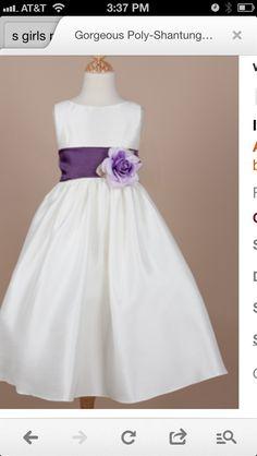 flower girl dresses with purple | Flower girl dress with purple sash | Planning...