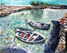 "Saatchi Art Artist Paolo Cervino; Painting, ""About poetry 76- Two boat"" #art"