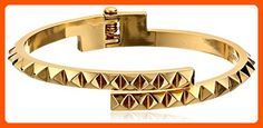 Rebecca Minkoff 14k Gold Pyramid Hinge Thin Bangle Bracelet - All about women (*Amazon Partner-Link)