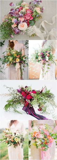 Wedding Ideas: How to Create Loose, Airy Wedding Bouquets #weddingbouquets