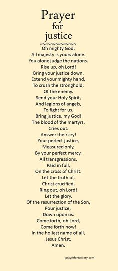 A prayer for God's justice