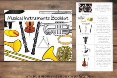 This {FREE} PrintableMusical Instruments Bookletfrom A Moment In Our World is a great way to introduce children to the instruments that make up an orche