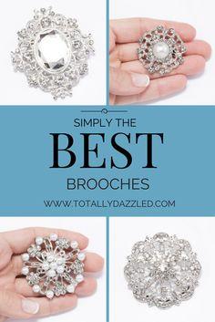 #brooches #weddingbrooches #weddingbling #bouquetbrooches www.totallydazzled.com