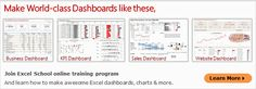Learn How to make Excel Dashboards - Join Excel School