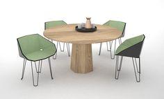 P.A. table and chairs by Søren Rose Studio for De La Espada: http://delaespada.com/index.php/eu/product/select/267