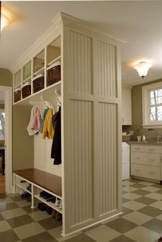 And... when you get a combination Mudroom and Laundry Room, it makes me even happier!