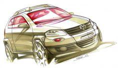 VW Design Sketch by Rodrigo Maggi.