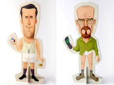Limited edition Breaking Bad and Mad Men paper dolls | Designer | Andrés Martínez Ricci - www.martinezricci... | buy them here - www.trimdoll.bigc...