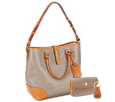 Dooney & Bourke Embossed Pebble Leather Shelby Shopper with Wristlet