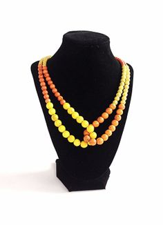 Custom Beadwork necklace - strand necklace - statement necklace - color block hall jewelry on Etsy, $34.00