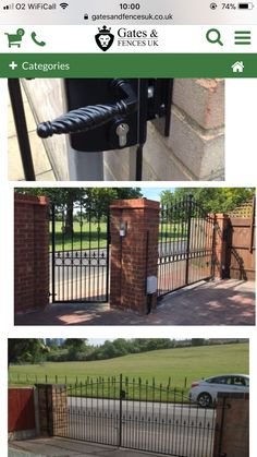 Driveway Paving, Front Gates, Fence, Outdoor Decor, House, Home Decor, Front Doors, Home, Haus