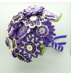 a lovely fabric flowers bouquet! I wonder if I could get mom's bouquet remade like this.