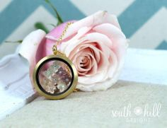 Beautiful boquet of flowers for Mother's Day!  The best present ever...A locket from South Hill Designs.