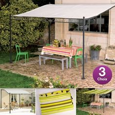 Pour lire un magazine, déjeuner ou tout simplement vous détendre sur la terrasse, la Toile et Tonnelle de terrasse sont idéales ! Epurées et esthétiques, elles vous permettront de créer une zone d'ombre et ainsi de vous protéger contre les rayons du soleil ! Vous avez le choix entre plusieurs options, à partir de 39.95 euros.