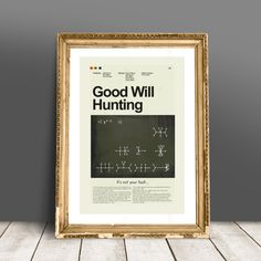 Good Will Hunting Mid-Century Modern Inspired Print
