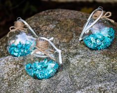 Set of 3 Teal Aqua Sea Shell Diamond Glass Disk Ornament, Filled, Jute Twine, Cottage Seaside Beachy Hanging Christmas Holiday Tree Decor by DetailsDelights on Etsy  Handmade Gifts and Beautiful Decor by Details and Delights. Shop at: http://DetailsDelights.com. Like and Share on Facebook at: https://www.facebook.com/DetailsandDelights/. Sign-Up for our weekly newsletters here:http://eepurl.com/cql2Hz