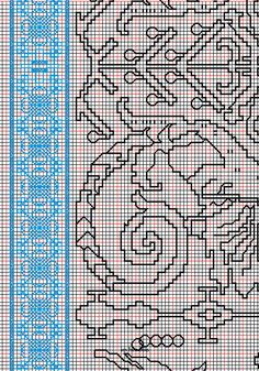 """working drawing 1 for Assisi embroidery design """"sea square"""""""
