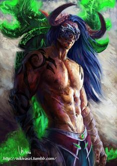 Legion Demon Hunter World of Warcraft Art Board ^^ // Blizzard // wow // Hearthstone // Geek Dark Fantasy Art, Fantasy Male, Fantasy Warrior, Fantasy World, Art Warcraft, World Of Warcraft 3, Warcraft Legion, Illidan Stormrage, Witcher Wallpaper