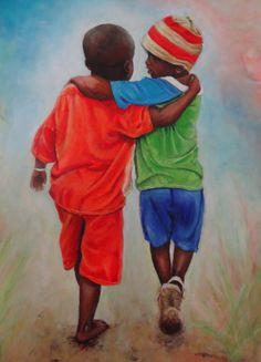 Black Love Art, Black Girl Art, Art Girl, African American Artwork, African Art, African Paintings, Black Art Pictures, Black Artwork, Arte Pop