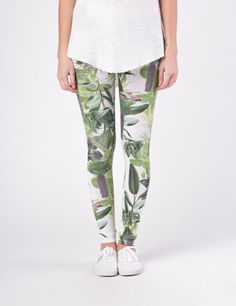Palm Avenue - White jungle leggings