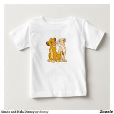 Simba and Nala Disney Infant T-shirt from the The Lion King movie.