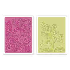 Sizzix.co.uk - Sizzix Textured Impressions Embossing Folders 2PK - Groovy Flowers Set