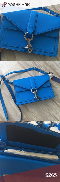 Rebecca Minkoff Hudson mini moto New never used. Does not come with dust bag. Color is bright royal. 🚫 No trades. All sales final. Rebecca Minkoff Bags Crossbody Bags