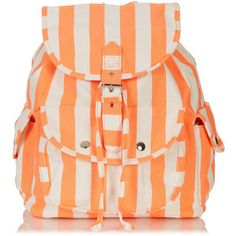 TOPSHOP Stripe Denim Backpack