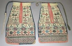 stitched pockets worked by or for Mary Davis in the early to mid 1800s is in Carmarthenshire County Museum