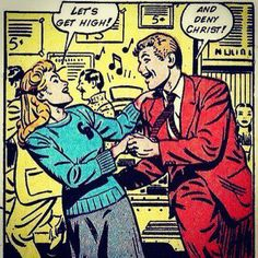 Well, it IS Saturday Night...! Funny Vintage Comics.