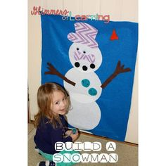 Felt snowman to help kids learn where body parts should go! Also a fun activity!