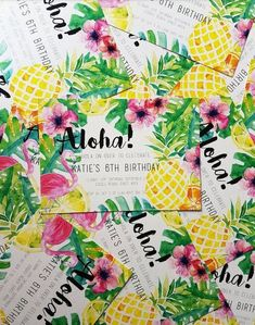 Aloha Invitiations / Invites / Birthday / by Clairetinceydesign