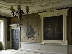 The drawing room at Wentworth Woodhouse, with wall painting in the style of Andien de Clermont